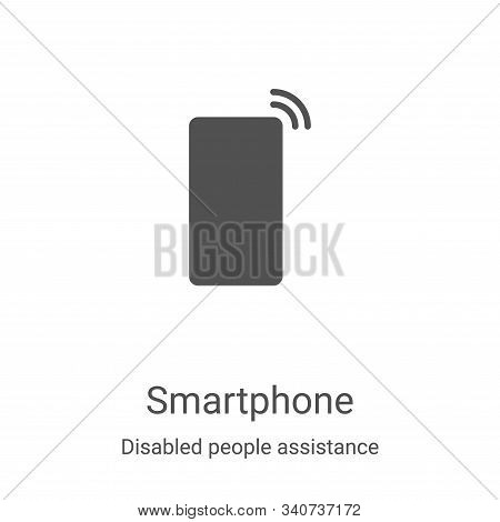 smartphone icon isolated on white background from disabled people assistance collection. smartphone