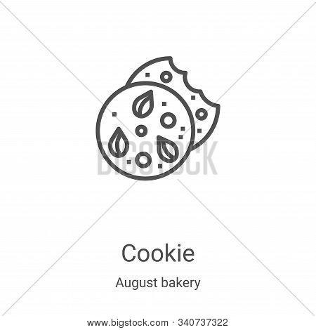 cookie icon isolated on white background from august bakery collection. cookie icon trendy and moder