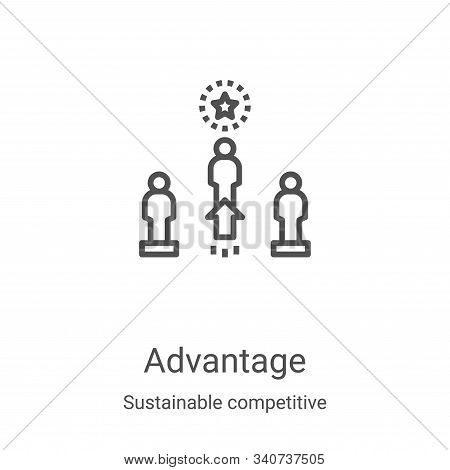 advantage icon isolated on white background from sustainable competitive advantage collection. advan
