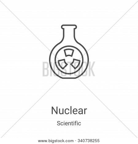 nuclear icon isolated on white background from scientific collection. nuclear icon trendy and modern