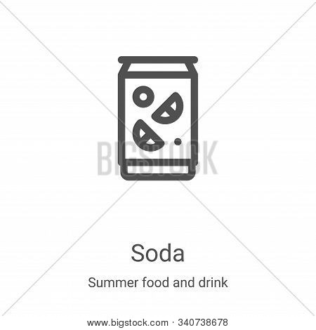 soda icon isolated on white background from summer food and drink collection. soda icon trendy and m