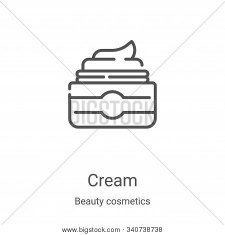cream icon isolated on white background from beauty cosmetics collection. cream icon trendy and mode