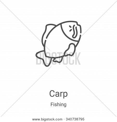 carp icon isolated on white background from fishing collection. carp icon trendy and modern carp sym
