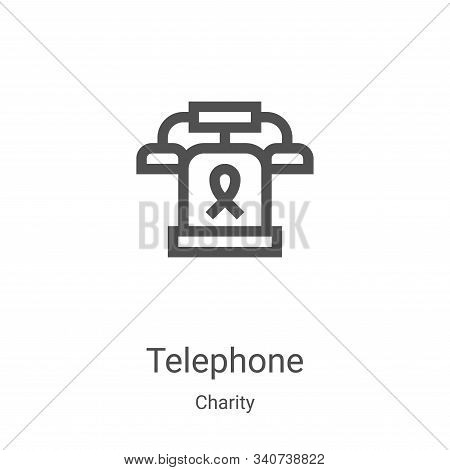 telephone icon isolated on white background from charity collection. telephone icon trendy and moder