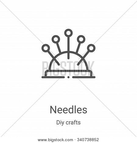 needles icon isolated on white background from diy crafts collection. needles icon trendy and modern