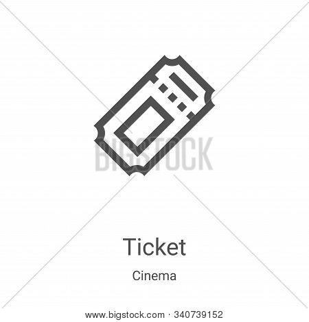 ticket icon isolated on white background from cinema collection. ticket icon trendy and modern ticke