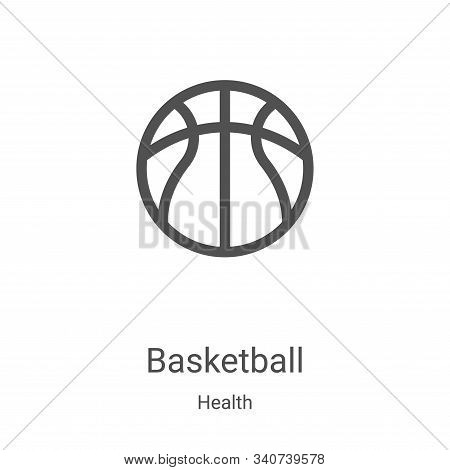 basketball icon isolated on white background from health collection. basketball icon trendy and mode