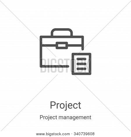 project icon isolated on white background from project management collection. project icon trendy an