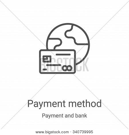 payment method icon isolated on white background from payment and bank collection. payment method ic