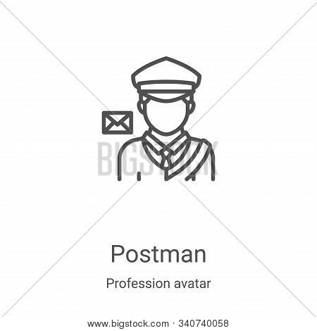 postman icon isolated on white background from profession avatar collection. postman icon trendy and