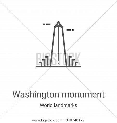 washington monument icon isolated on white background from world landmarks collection. washington mo