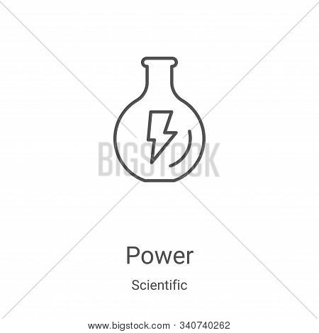 power icon isolated on white background from scientific collection. power icon trendy and modern pow