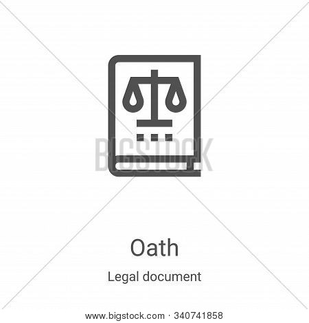 Oath Icon Vector From Legal Document Collection. Thin Line Oath Outline Icon Vector Illustration. Li