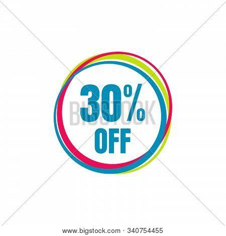 30% Off Sale 30 Percent Discount Marketing Promotional Poster Banner Design Vector Illustration