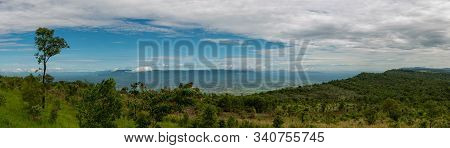 Panaroma Aerial View At Pha Hua Nak View Point In Phulanka, The National Public Park In Chaiyaphum,