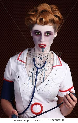 Unusual Horror Themed Zombie Nurse