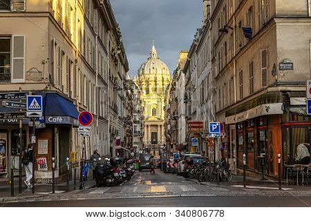 Paris, France, 09.10.2019: Beautiful Cathedral On The Champs Elysees.