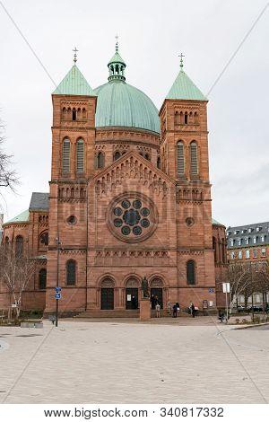 View Of The Saint-pierre-le-jeune Catholic Church In Strasbourg