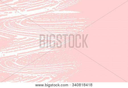 Grunge Texture. Distress Pink Rough Trace. Flawless Background. Noise Dirty Grunge Texture. Unusual