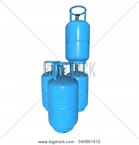 Gas Cylinder Lpg Tank Gas-bottle. Propane Gas-cylinder Balloon. Cylindrical Container With Liquefied