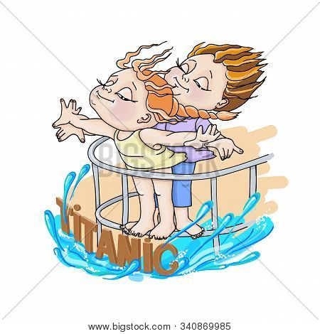 Illustration Of A A Boy And A Girl On A White Background Titanic