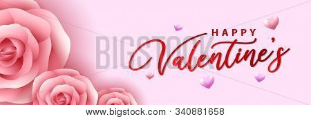 valentine, valentine day, Valentines Day pink background, Valentine's day banners, Valentines Day flyer, Valentines Day design, Valentines Day with Heart and flower on pink background, Copy space text area, vector illustration. eps 10