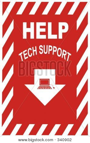 Tech Support Sign