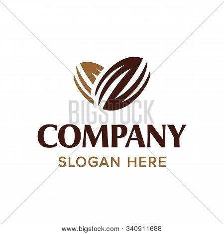 Chocolate Coffee Bean Logo. Bean And Heart Concept. Branding For Cafes, Cofeeshop, Restaurants, Beve