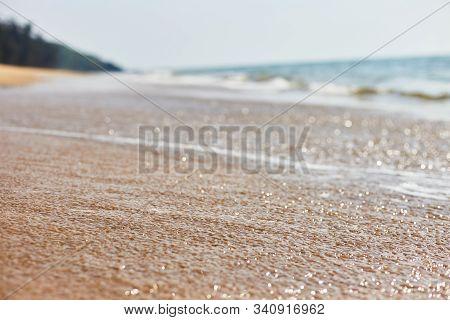 Querim Beach. Deserted Keri Beach. Goa, Arambol. Background.