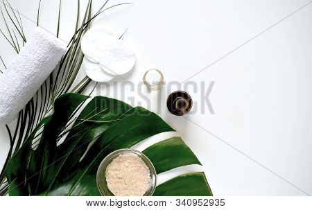 Beauty Background Cosmetic Product Alternative Cosmetics, Cosmetic Oil, Soap, Natural Ingredients. S