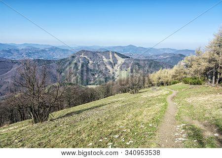 Spring Time In Klak Hill, Slovak Republic. Seasonal Natural Scene.
