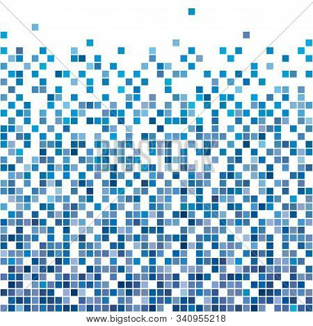 Vector Illustration Of Abstract Blue Geometric Background