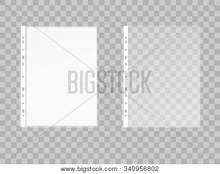 Vector Illustration Of File And Empty Sheet Of Paper