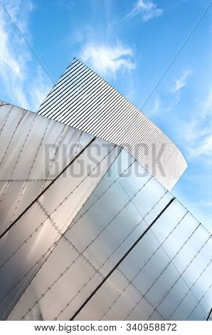 Imperial War Museum North, Salford Quays, Manchester - June 19, 2013 - Close-up Exterior Shot Of The