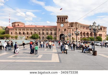 Yerevan, Armenia-april 28 2019: Residence Of Prime Minister Of Armenia And Ministry Of Finance On Re