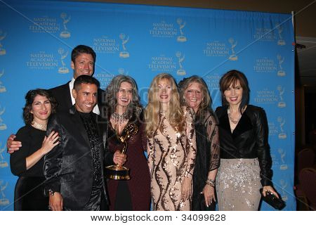 LOS ANGELES - JUN 17:  DOOL Makeup Staff, James Scott, Lauren Koslow arrives at the 2012 Daytime Creative Emmy Awards at Westin Bonaventure Hotel on June 17, 2012 in Los Angeles, CA