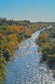 Agua Fria River in the southwest desert of Peoria, Maricopa County, Arizona USA poster