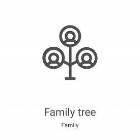 family tree icon isolated on white background from family collection. family tree icon trendy and mo