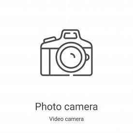 photo camera icon isolated on white background from video camera collection. photo camera icon trend