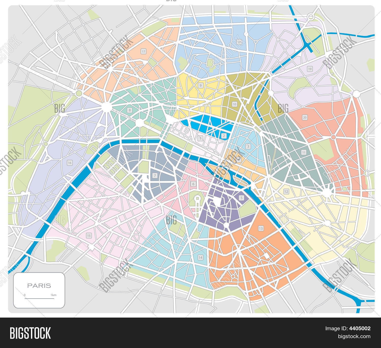 Labeled Map Of France.Map Paris France Vector Photo Free Trial Bigstock