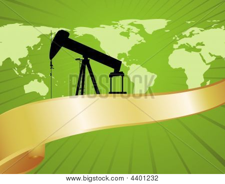 Green World Oil Map Banner