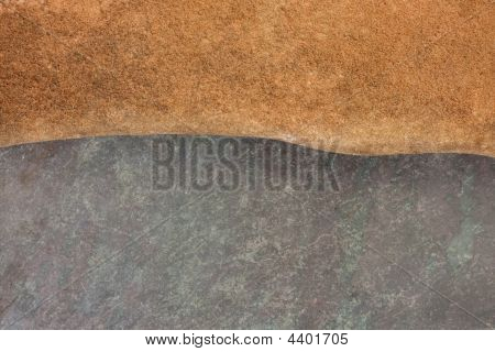 Abstract Landscape With Red Sandstone And Slate Rock