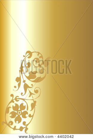 Gold Shaded Floral Background