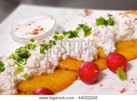 Potato Pancake With Cottage Cheese