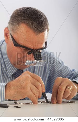 Man Repairing Watch