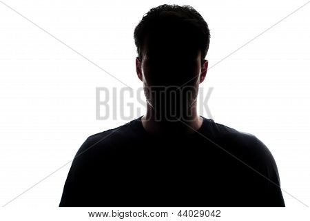 Typical Upper Body Man Silhouette Wearing A Tshirt