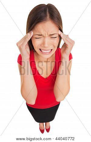 Migraine Headache Woman Suffering