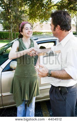 Driving Test Handshake