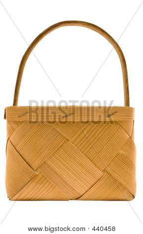 Cubic Wooden Basket W/ Path (side View)