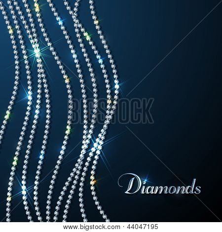 Diamond sparkling beads - eps10 background